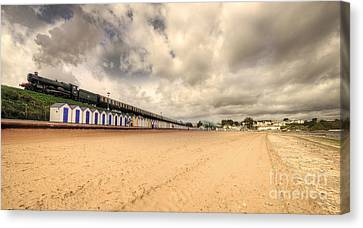 Kinlet Hall At Goodrington Sands Canvas Print by Rob Hawkins