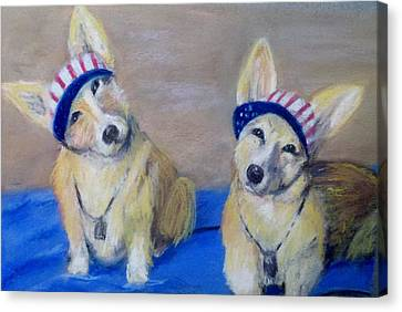 Kipper And Tristan Canvas Print by Trudy Morris
