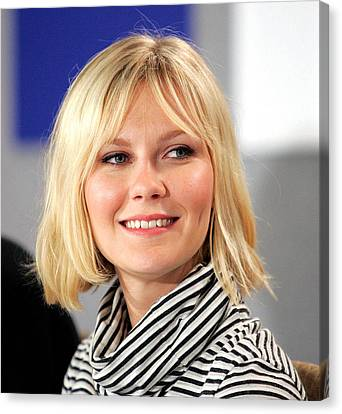 Kirsten Dunst At The Press Conference Canvas Print