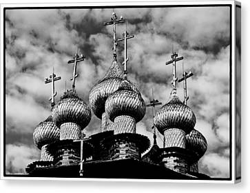 Canvas Print featuring the photograph Kishi Domes Black And White by Rick Bragan