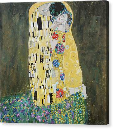 Kiss Copy Of Gustav Klimt Canvas Print
