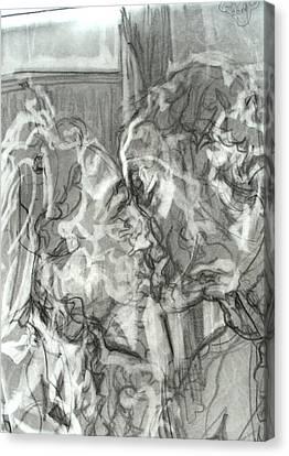 Duchess Of Cambridge Canvas Print - Kiss by Godfrey McDonnell