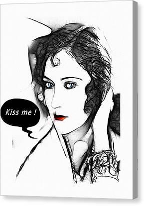 Kiss Me 2 Canvas Print by Steve K