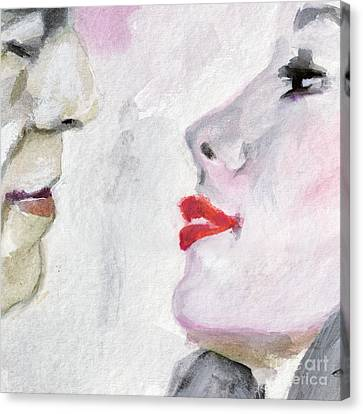 Kiss Me  Canvas Print by Ginette Callaway