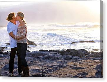 Kissed By The Ocean Canvas Print by Dawn Eshelman