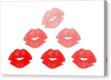 Kisses In Pyramid Shape Canvas Print