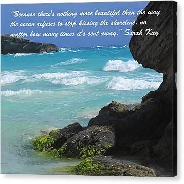 Kissing The Shore Canvas Print by Ian  MacDonald