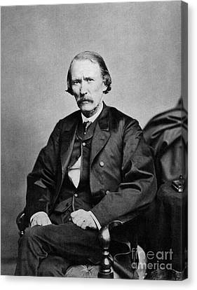 Kit Carson, American Frontiersman Canvas Print by Photo Researchers
