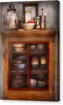 Kitchen - The Cooling Cabinet Canvas Print by Mike Savad