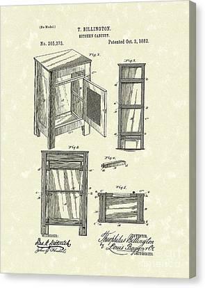 Kitchen Cabinet 1882 Patent Art Canvas Print by Prior Art Design