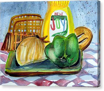 Clothed Canvas Print - Kitchen Joy by Mindy Newman
