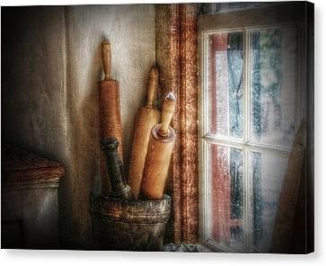 Kitchen Window Canvas Print by Christine Annas