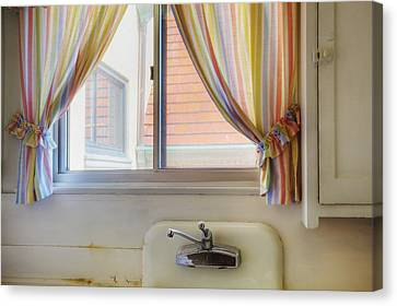 Kitchen Window Of Former Residential Canvas Print by Douglas Orton