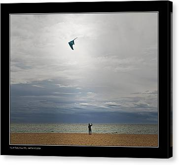 Kite In The Sky Canvas Print by Pedro L Gili