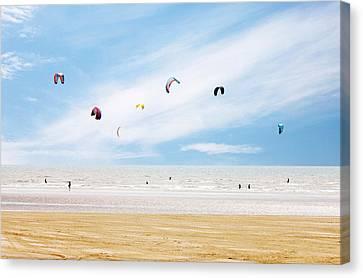 Kiteboarder Paradise Canvas Print by Richard Newstead