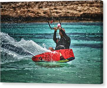 Kitesurfer Canvas Print by Stelios Kleanthous