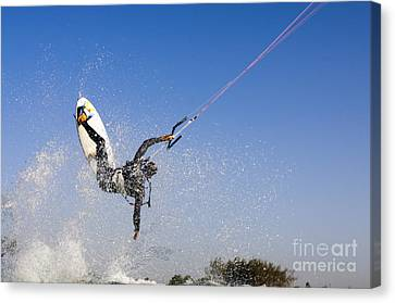 Kitesurfing Canvas Print by Hagai Nativ