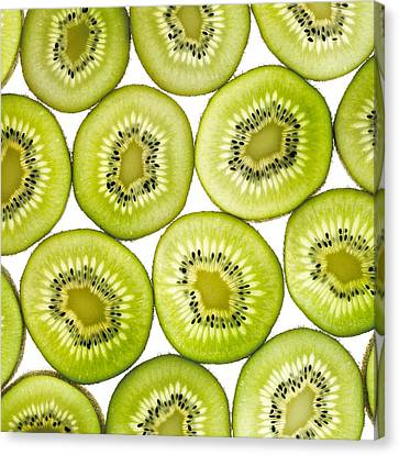 Kiwi Slices Canvas Print by Mark Sykes