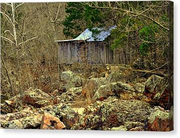 Canvas Print featuring the photograph Klepzig Mill by Marty Koch