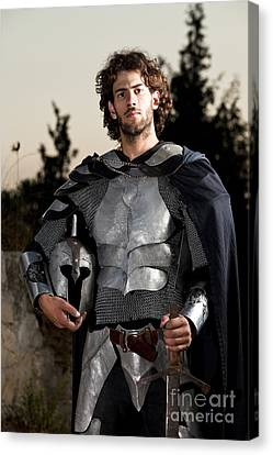 Knight In Shining Armour Canvas Print by Yedidya yos mizrachi