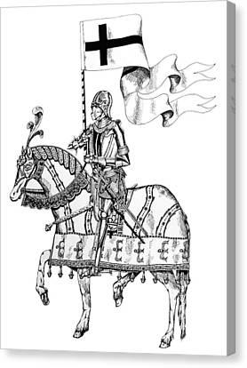 Knight On Parade Canvas Print