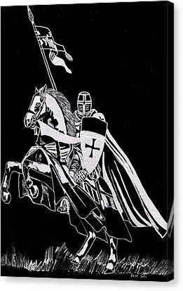 Knight Templar Canvas Print by Jim Ross