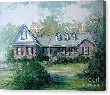 Canvas Print featuring the painting Knox's Home Illustration by Gretchen Allen