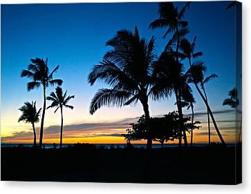 Ko Olina Lagoon 4 Sunset Canvas Print