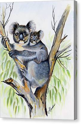 Koala And Baby Canvas Print