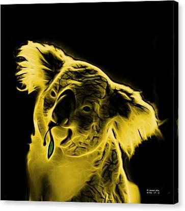 Koala Pop Art - Yellow Canvas Print by James Ahn