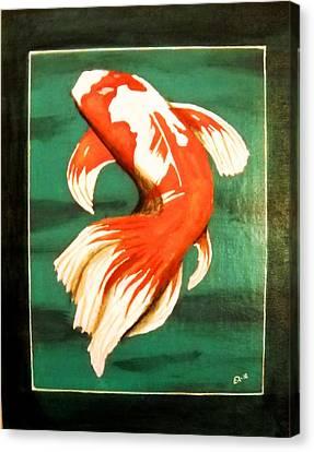 Koi Fish Canvas Print by Edwin Alverio