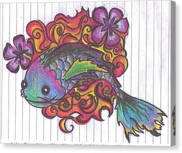 Koi Fish Canvas Print by Stephanie Ellison
