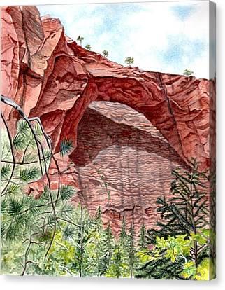 Kolob Canyon Arch Canvas Print