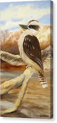 Kooka Tryptage 3 Canvas Print