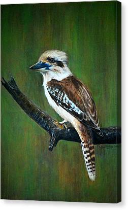 Canvas Print featuring the painting Kookaburra by Lynn Hughes