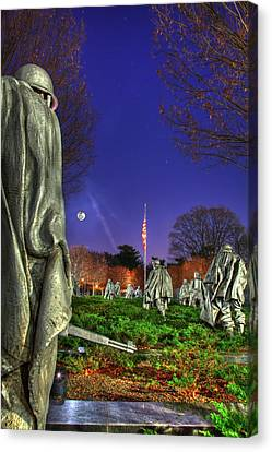 Canvas Print featuring the photograph Korean War Memorial Part II by Metro DC Photography