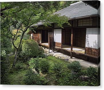 Koto-in Zen Tea House And Garden - Kyoto Japan Canvas Print by Daniel Hagerman