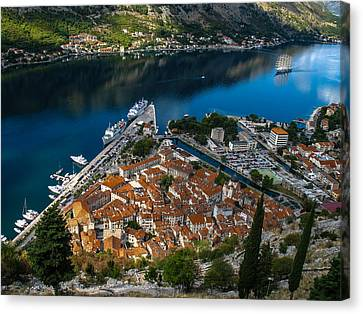 Canvas Print featuring the photograph Kotor Montenegro by David Gleeson