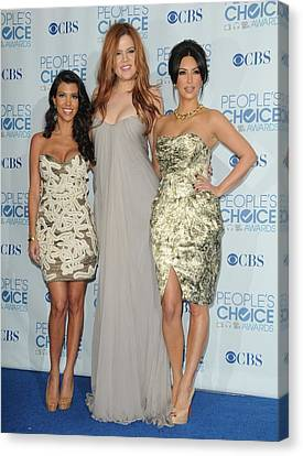 Kourtney Kardashian, Khloe Kardashian Canvas Print by Everett
