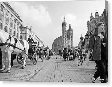 Krakow Carriages Canvas Print by Robert Lacy