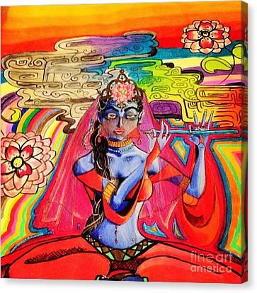 Krishna Canvas Print by Jeffrey Kyker