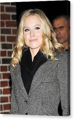 Kristen Bell At Talk Show Appearance Canvas Print by Everett