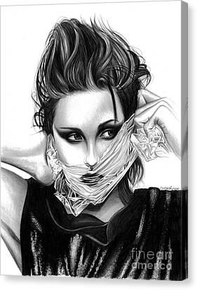 Kristen Stewart 2 Canvas Print by Crystal Rosene