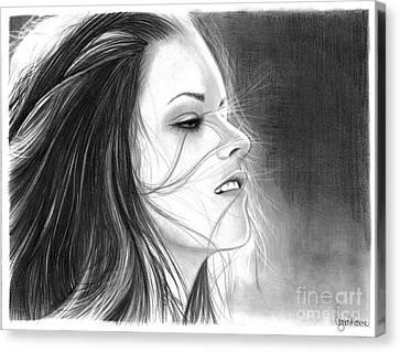 Kristen Stewart Canvas Print by Crystal Rosene