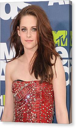 Kristen Stewart Wearing A Balmain Dress Canvas Print by Everett