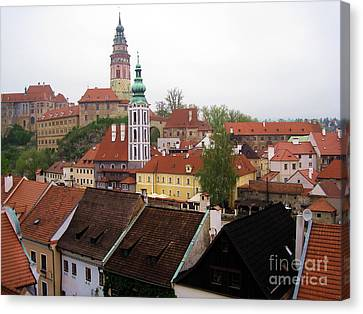 Krumlov  Roofs Canvas Print