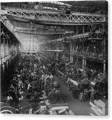 Krupp Cannon Manufacturing In Essen Canvas Print