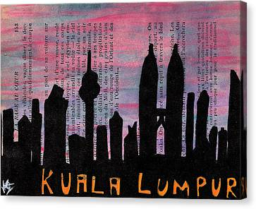Kuala Lumpur Malaysia Skyline Canvas Print
