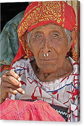 Kuna Lady Canvas Print