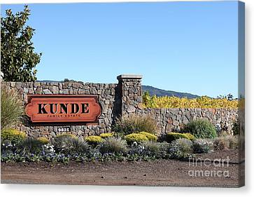 Kunde Family Estate Winery - Sonoma California - 5d19316 Canvas Print